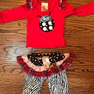 Girls Twirls &Twigs outfit top and pants size 6-12